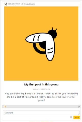 BuzzyGroups Post Example